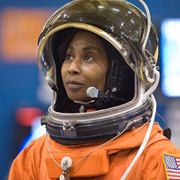 photo of Stephanie Wilson in spacesuit