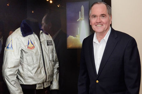 Bob Crippen with flight jacket