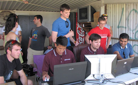 Texas A&M and UT students flight competitino