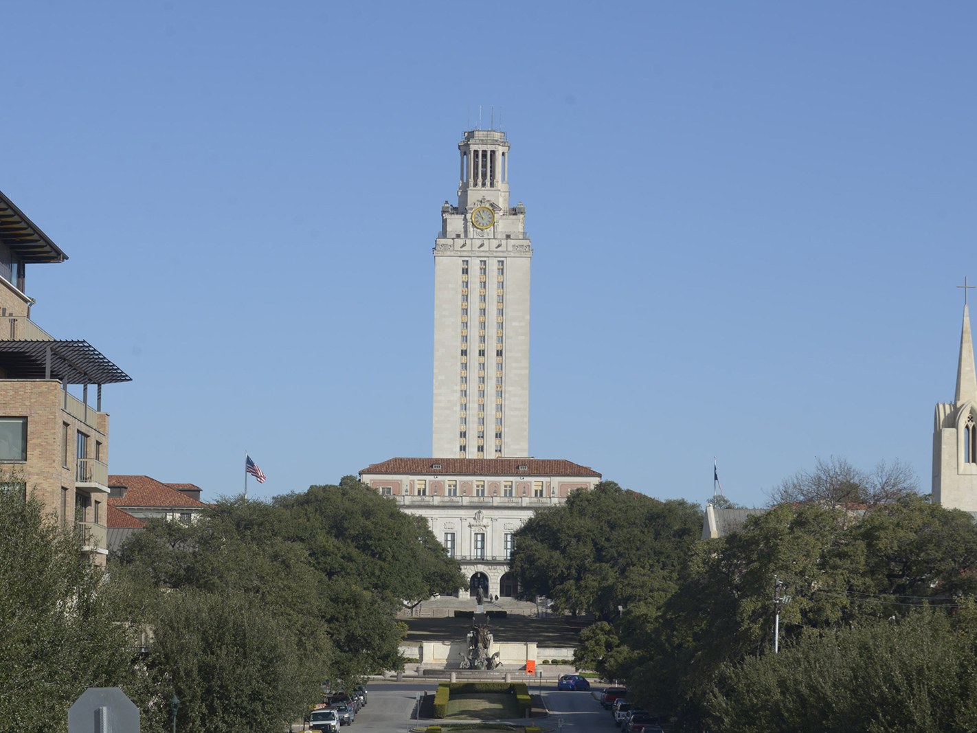 UT tower and campus