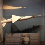 photo of plane model in display case