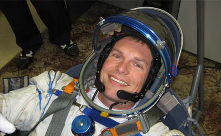 photo of Andreas Morgensen in spacesuit