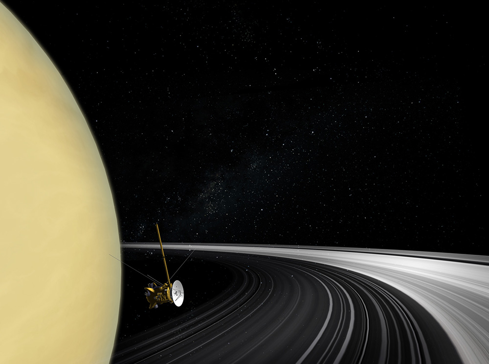 Cassini orbiter image