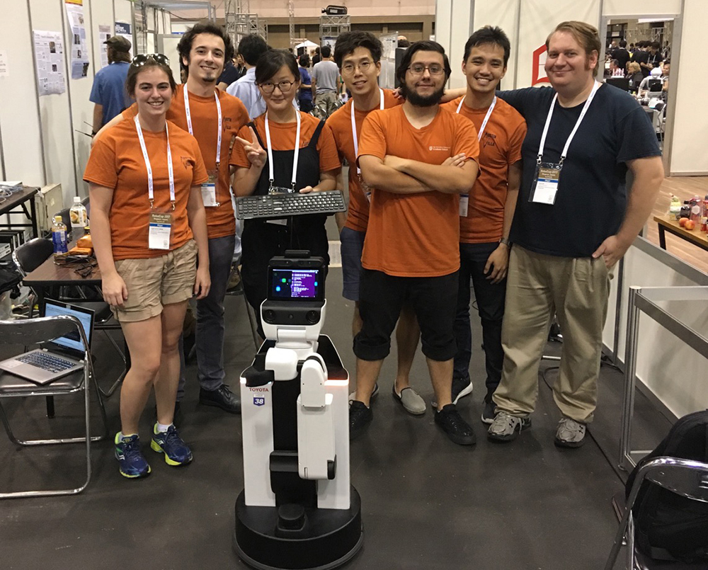 RoboCup winning team photo