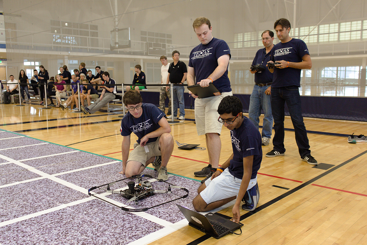 Texas Aerial Robotics team members at competition photo