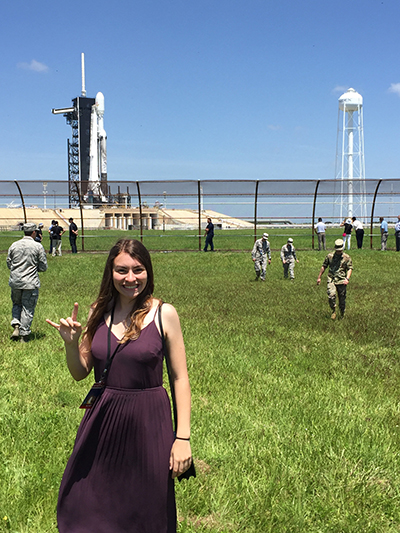 Alexis Zinni at launch site photo